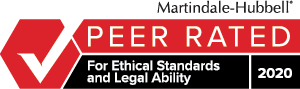 Martindale-Hubbell Peer Rated for Ethical Standards and Legal Ability